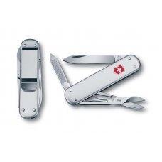 Нож VICTORINOX Money Clip, 74 мм, 5 функций, алюминиевая рукоять, серебристый 0.6540.16