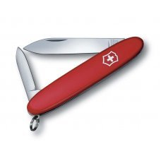 Нож VICTORINOX Excelsior, 84 мм, 3 функции, красный, с чехлом из искуственной кожи 0.6901