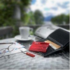 Швейцарская карточка VICTORINOX SwissCard Classic, 10 функций, полупрозрачная красная 0.7100.T