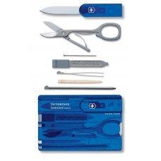 Швейцарская карточка VICTORINOX SwissCard Classic, 10 функций, полупрозрачная синяя 0.7122.T2