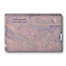 Швейцарская карточка VICTORINOX SwissCard Classic Spring Spirit, 10 функций, розово-сиреневая 0.7155