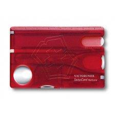 Швейцарская карточка VICTORINOX SwissCard Nailcare, 13 функций, полупрозрачная красная 0.7240.T