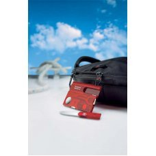 Швейцарская карточка VICTORINOX SwissCard Lite, 13 функций, полупрозрачная красная 0.7300.T