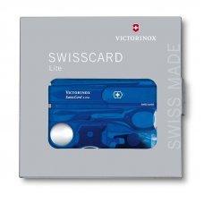 Швейцарская карточка VICTORINOX SwissCard Lite, 13 функций, полупрозрачная синяя 0.7322.T2