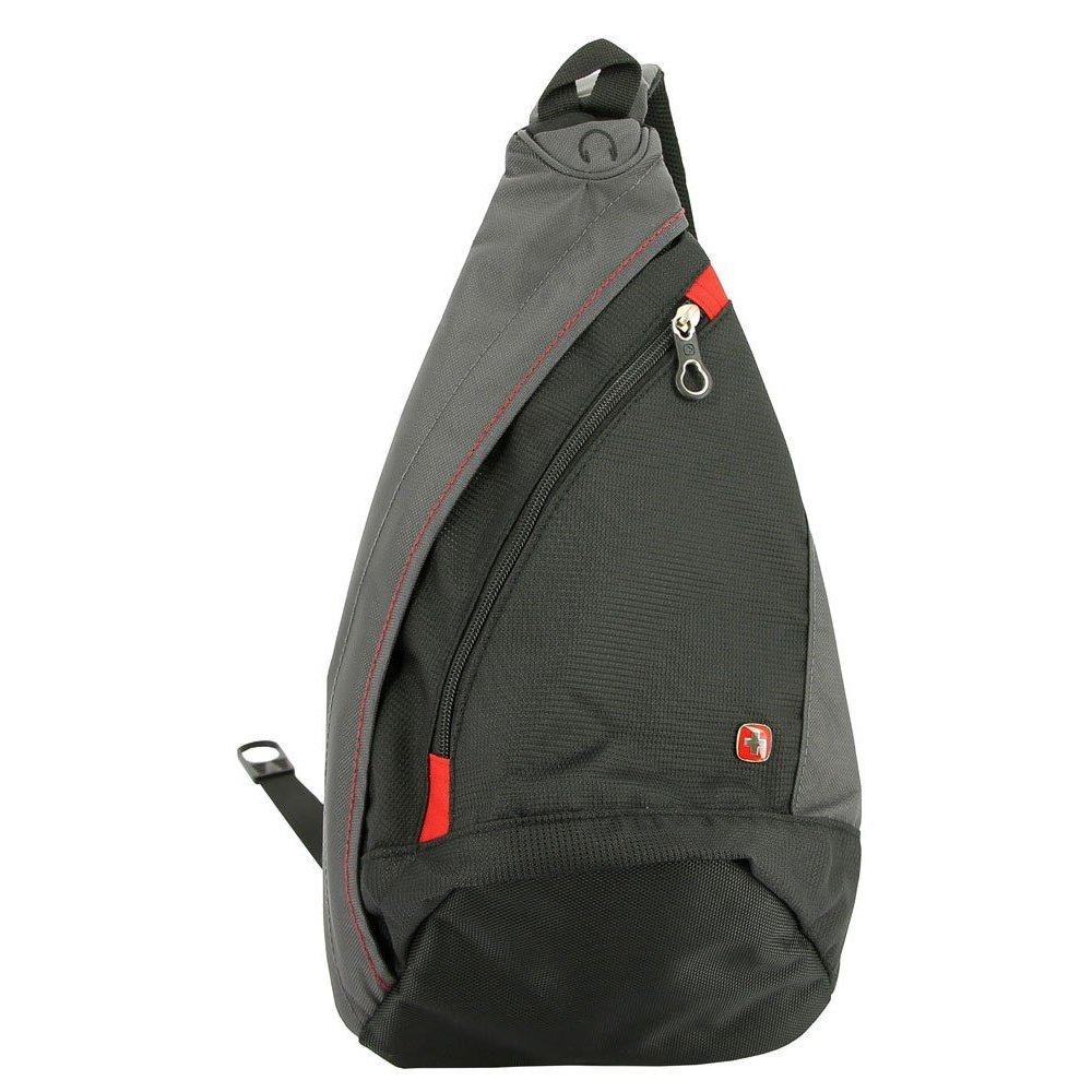 Рюкзак WENGER с одним плечевым ремнем, черный/серый, 25x15x45 см, 7 л 1092230