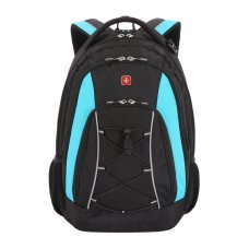 Рюкзак WENGER, черный/синий, полиэстер, 33х19х45 см, 28 л 11862315-2
