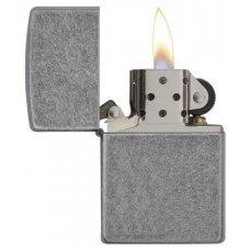 Зажигалка ZIPPO Classic с покрытием ™Plate, латунь/сталь, серебристая, матовая, 36х12x56 мм 121FB