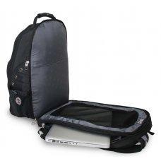 """Рюкзак WENGER, 15"""" ,черный/серый, полиэстер 900D, 34х23х47 см, 36 л 12704215"""