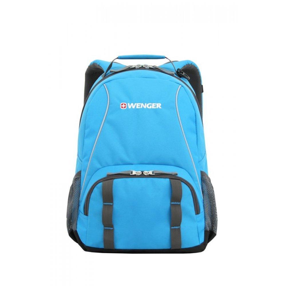 Рюкзак WENGER, голубой/серый, полиэстер 600D/добби, 32х14х45 см, 20 л 12903415
