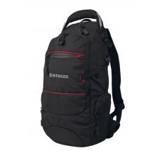 Рюкзак WENGER, чёрный/красный, полиэстер 1200D PU, 23х18х47 см, 22 л 13022215