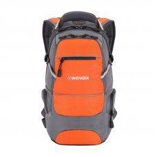 Рюкзак WENGER, серый/оранжевый/серебристый, полиэстер 1200D PU, 23х18х47 см, 22 л 13024715-2