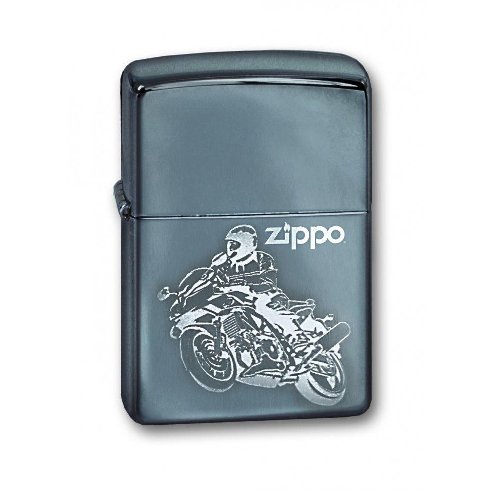 Зажигалка ZIPPO с покрытием High Polish Chrome, латунь/сталь, серебристая, глянцевая, 36х12х56 мм 150 Moto