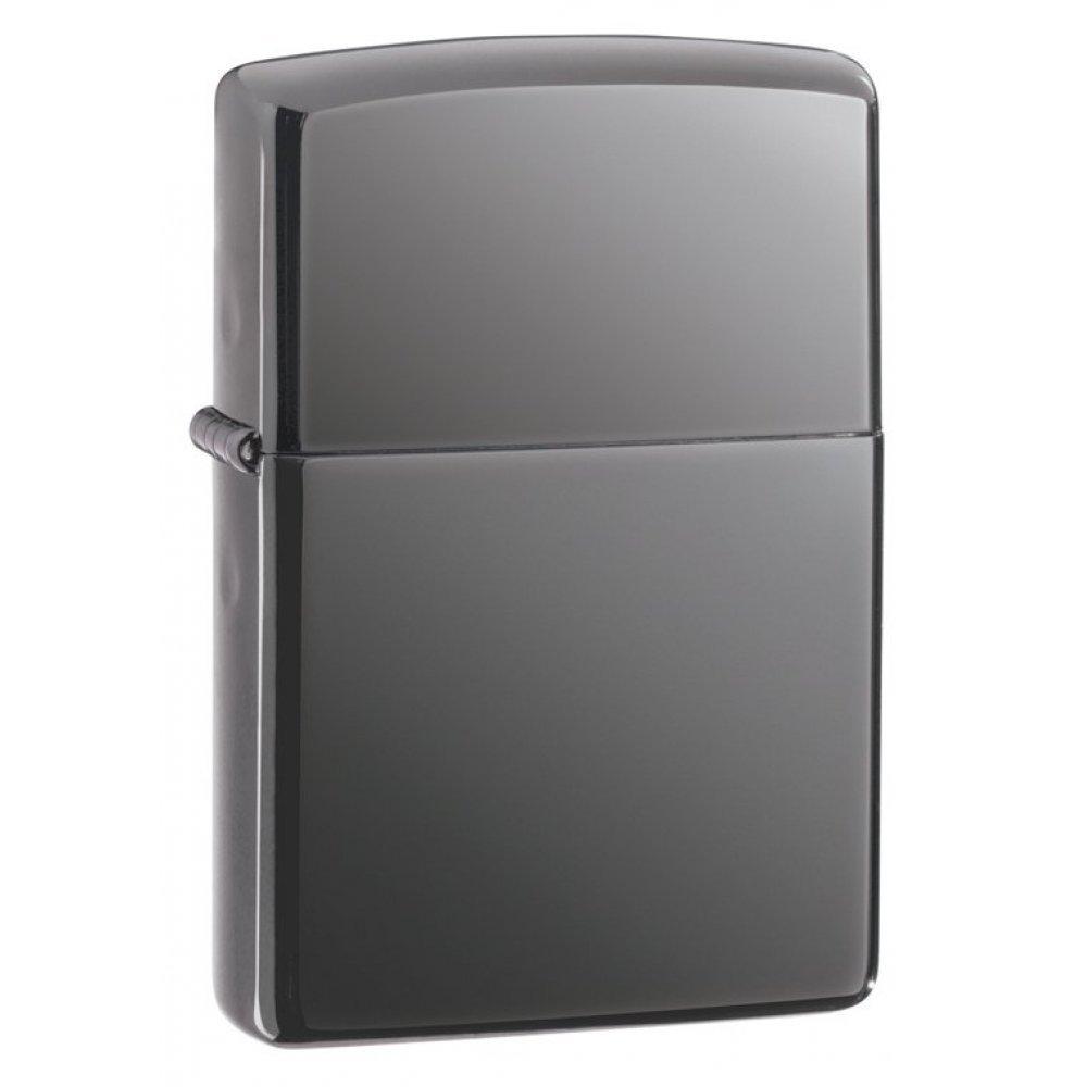 Зажигалка ZIPPO Classic с покрытием Black Ice®, латунь/сталь, чёрная, глянцевая, 36х12х56 мм 150