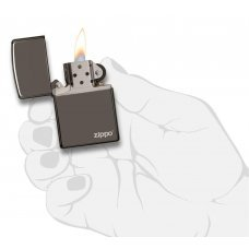 Зажигалка ZIPPO Classic с покрытием Black Ice®, латунь/сталь, чёрная, глянцевая, 36х12х56 мм 150ZL