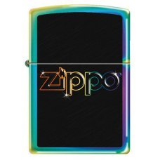 Зажигалка ZIPPO Classic с покрытием Spectrum™, латунь/сталь, разноцветная, глянцевая, 36x12x56 мм 151 RAINBOW LOGO