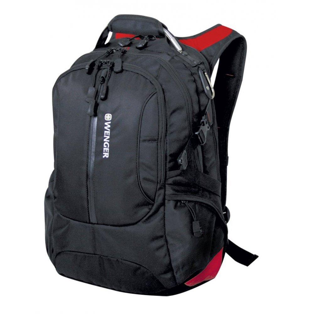 "Рюкзак WENGER, 15"", черный/красный, полиэстер 1200D, 36х17х50 см, 30 л 15912215"