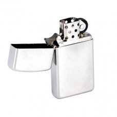 Зажигалка ZIPPO Slim® с покрытием Satin Chrome™, латунь/сталь, серебристая, матовая, 30х10x55 мм 1605