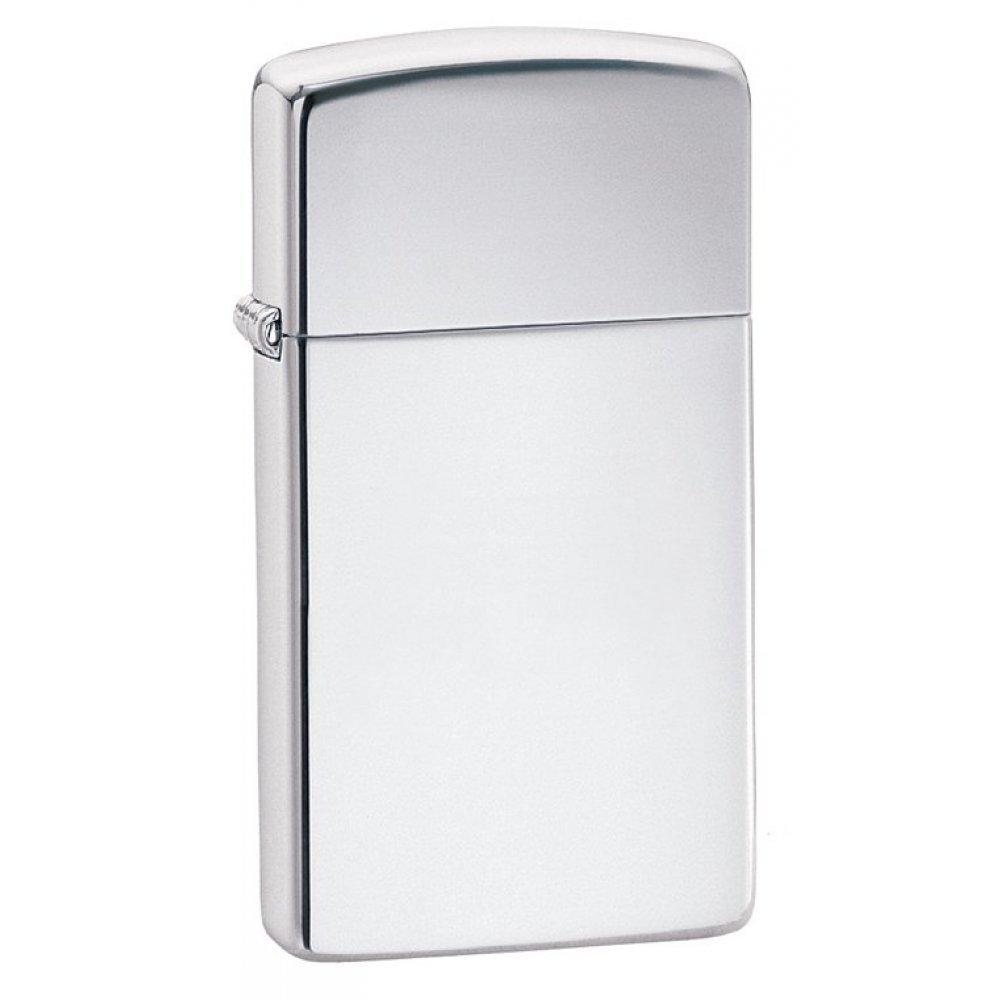 Зажигалка ZIPPO Slim® с покрытием High Polish Chrome, латунь/сталь, серебристая, 30х10x55 мм 1610