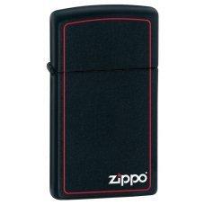 Зажигалка ZIPPO Slim® с покрытием Black Matte, латунь/сталь, чёрная, матовая, 30x10x55 мм 1618ZB