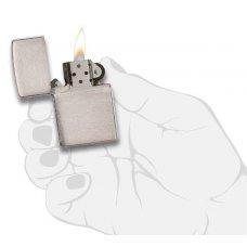 Зажигалка ZIPPO Armor™ c покрытием Brushed Chrome, латунь/сталь, серебристая, матовая, 37х13x58 мм 162