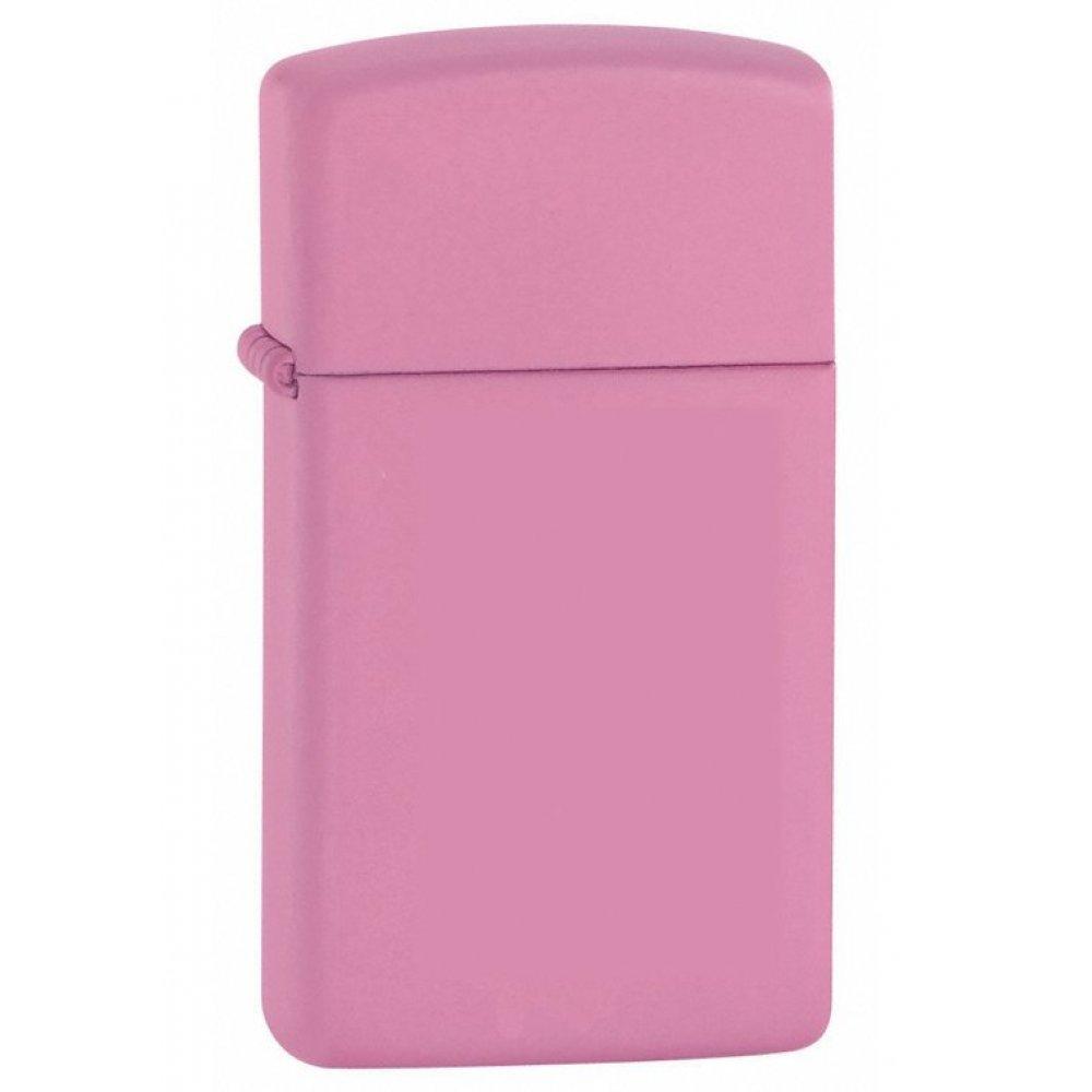 Зажигалка ZIPPO Slim® с покрытием Pink Matte, латунь/сталь, розовая, матовая, 30x10x55 мм 1638