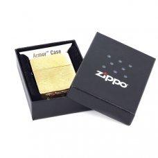 Зажигалка ZIPPO Armor™ с покрытием Brushed Brass, латунь/сталь, золотистая, матовая, 37х13x58 мм 168