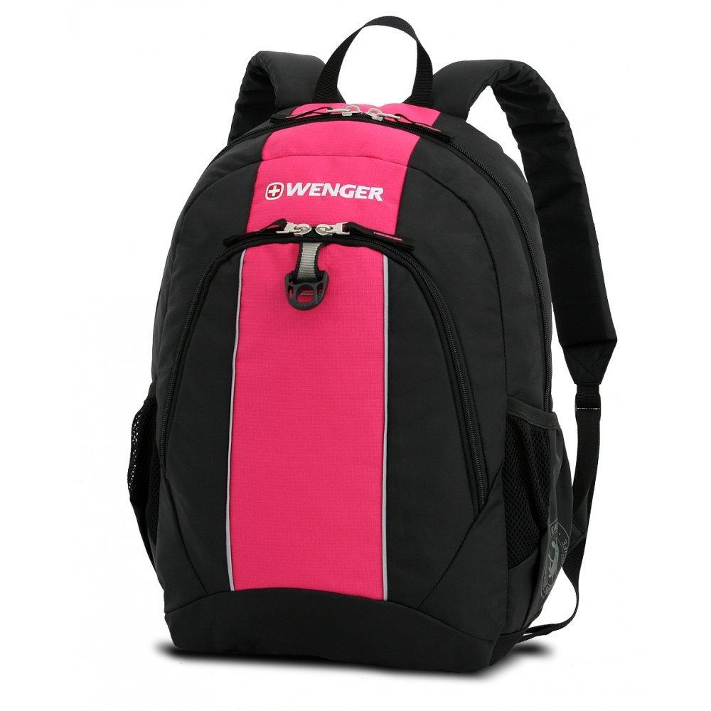 Рюкзак WENGER, чёрный/розовый, полиэстер, 32х14х45 см, 20 л 17222015