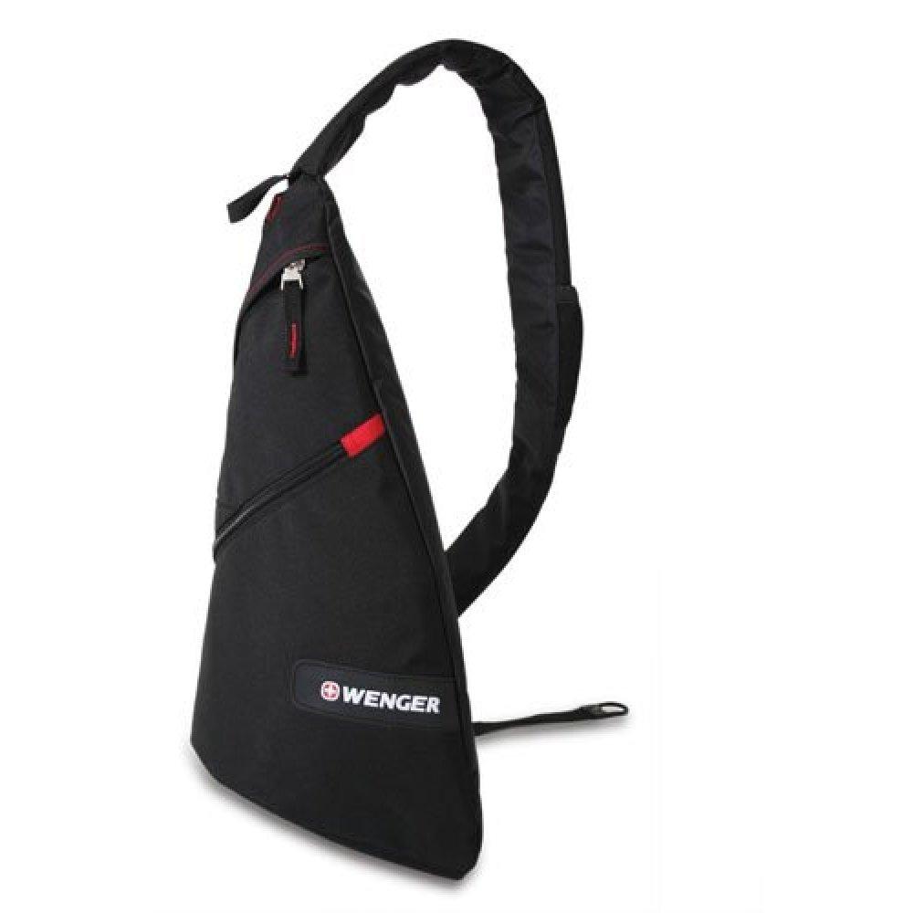 Рюкзак WENGER с одним плечевым ремнем, черный/красный, 25x15x45 см, 7 л 18302130