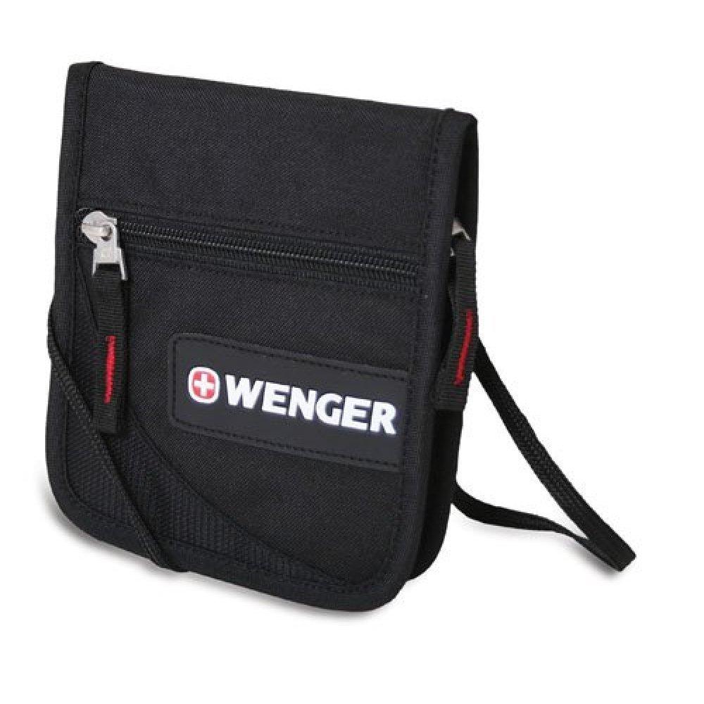Кошелёк на шею WENGER, чёрный, полиэстер 600D, 14х2х16 см 18312168