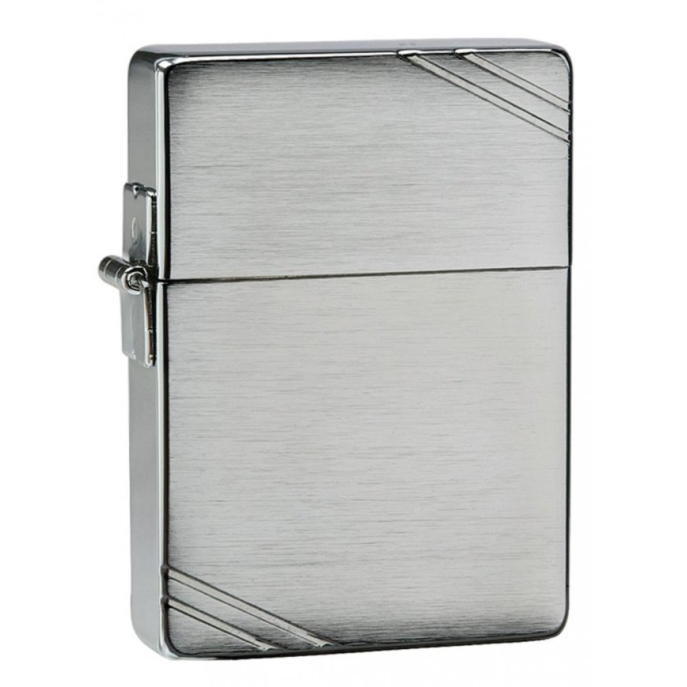 Зажигалка ZIPPO 1935 Replica™ с покрытием Brushed Chrome, латунь/сталь, серебристая, 36x12x56 мм 1935