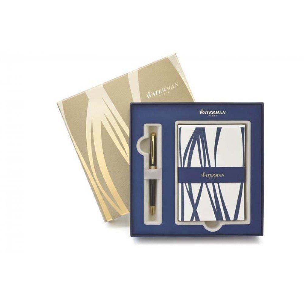 Подарочный набор Waterman: ручка шариковая Hemisphere Black + набор открыток и конвертов 1937583