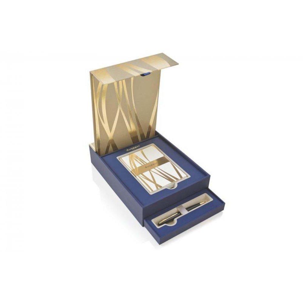 Подарочный набор Waterman: ручка шариковая Carene Black GT + набор открыток и конвертов 1937585