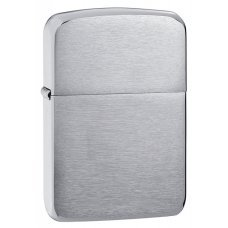 Зажигалка ZIPPO 1941 Replica™ с покрытием Brushed Chrome, латунь/сталь, серебристая, 36x12x56 мм 1941