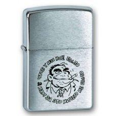 Зажигалка ZIPPO Горилла, с покрытием Brushed Chrome, латунь/сталь, серебристая, матовая, 36x12x56 мм 200 Горилла