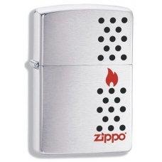 Зажигалка ZIPPO Chimney, с покрытием Brushed Chrome, латунь/сталь, серебристая, матовая, 36x12x56 мм 200 Chimney