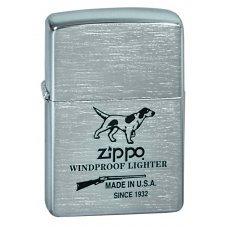 Зажигалка ZIPPO Hunting Tools, с покрытием Brushed Chrome, латунь/сталь, серебристая, 36x12x56 мм 200 Hunting Tools