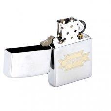 Зажигалка ZIPPO Zippo, с покрытием Brushed Chrome, латунь/сталь, серебристая, матовая, 36x12x56 мм 200 Zippo