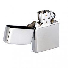 Зажигалка ZIPPO Classic с покрытием Brushed Chrome, латунь/сталь, серебристая, матовая, 36x12x56 мм 200