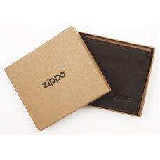 Портмоне ZIPPO, цвет мокко, натуральная кожа, 11x1.2x10 см 2005116