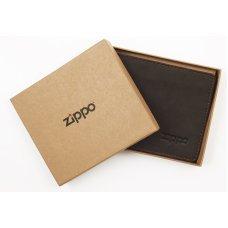 Портмоне ZIPPO, цвет мокка, натуральная кожа, 11x1.5x10 см 2005118