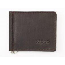 Зажим для денег ZIPPO, цвет мокко, натуральная кожа, 10.5x1x9 см 2005125