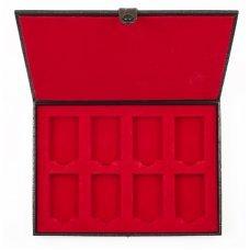 Кейс коллекционера для 8 зажигалок ZIPPO, чёрный, натуральная кожа, 24x3x17 см 2005131