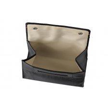 Кисет для табака ZIPPO, чёрный, натуральная кожа, 15x2.5x8 см 2006060