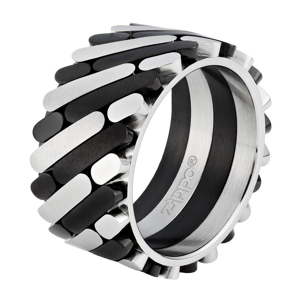 Кольцо ZIPPO, серебристо-чёрное, нержавеющая сталь, 1.2x0.25 см, диаметр 17.8 мм 2006244