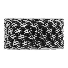 Кольцо ZIPPO, серебристое, с плетёным орнаментом, нержавеющая сталь, 1.2x0.2 см, диаметр 19.1 мм 2006255