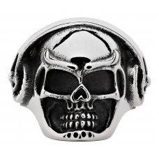 Кольцо ZIPPO, серебристое, в форме черепа, нержавеющая сталь, 2.5x2.6x0.6 см,  диаметр 19.7 мм 2006264
