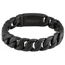 Браслет ZIPPO, чёрный, нержавеющая сталь, 20x1.30x0.60 см 2006265