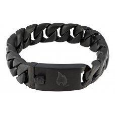 Браслет ZIPPO, чёрный, нержавеющая сталь, 18x1.30x0.60 см 2006266