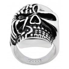 Кольцо ZIPPO, серебристое, в форме черепа, нержавеющая сталь, 2.3x3.3x0.5 см, диаметр 19.7 мм 2006285