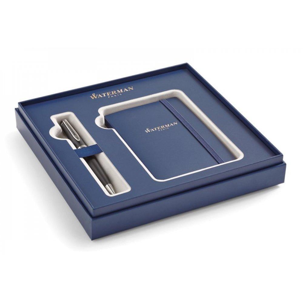 Подарочный набор Waterman: Шариковая ручка Waterman Expert  MBlk CT + блокнот 2019834